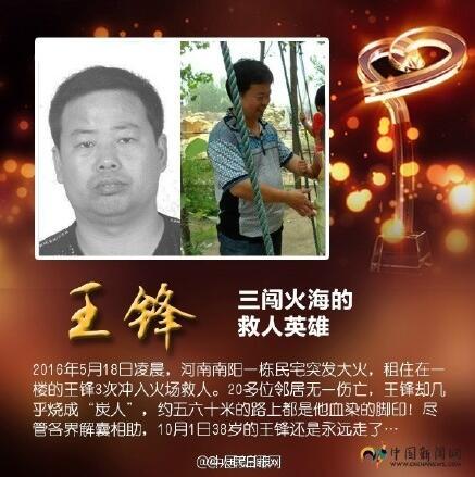2017感动中国人物王锋的事迹及颁奖词