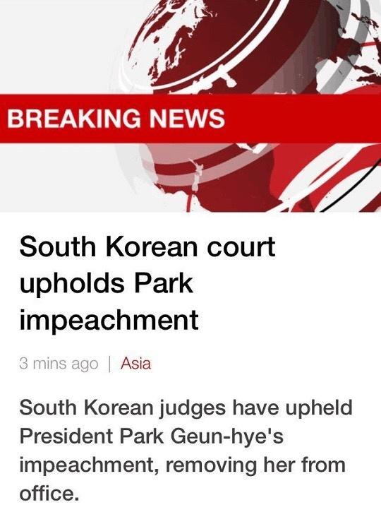 雅思阅读每日练:朴槿惠被弹劾下台