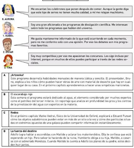 西班牙语DELE B1阅读理解题型介绍