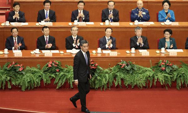 梁振英当选全国政协副主席(双语)