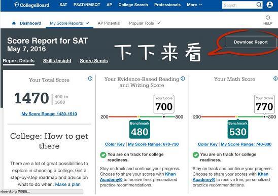 新SAT成绩单说明:这些数字是什么意思