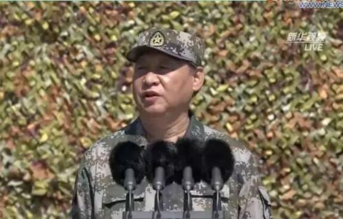 习近平主席在朱日和训练基地阅兵讲话全文(双语)