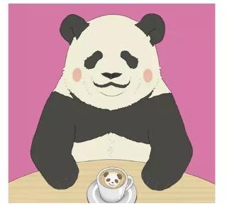 动漫中大熊猫角色《白熊咖啡厅》熊猫君(图)