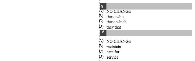 新SAT语法练习题及答案第二页