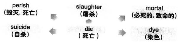 大学英语六级词汇看图记忆:die