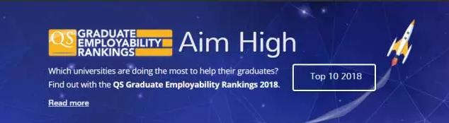 2018年QS全球高校毕业生就业能力排名公布