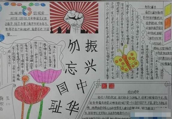 九一八事变手抄报图片:勿忘国耻