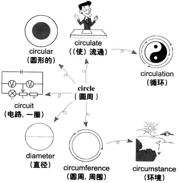 大学英语六级词汇看图记忆:circle