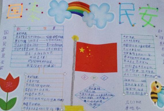 国庆节手抄报图片资料:国泰民安