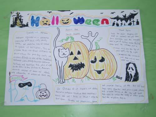 万圣节英语手抄报:Halloween