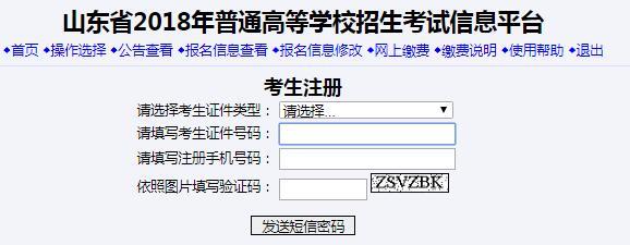 2017山东高考网上报名入口