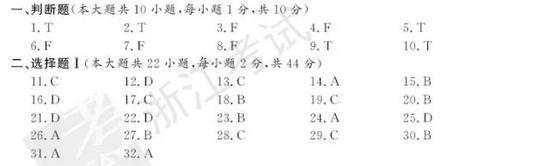 2017年11月浙江新高考学考选考政治试题及答案