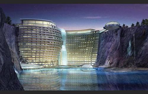 世界第一座 深坑酒店 坐落上海 双语