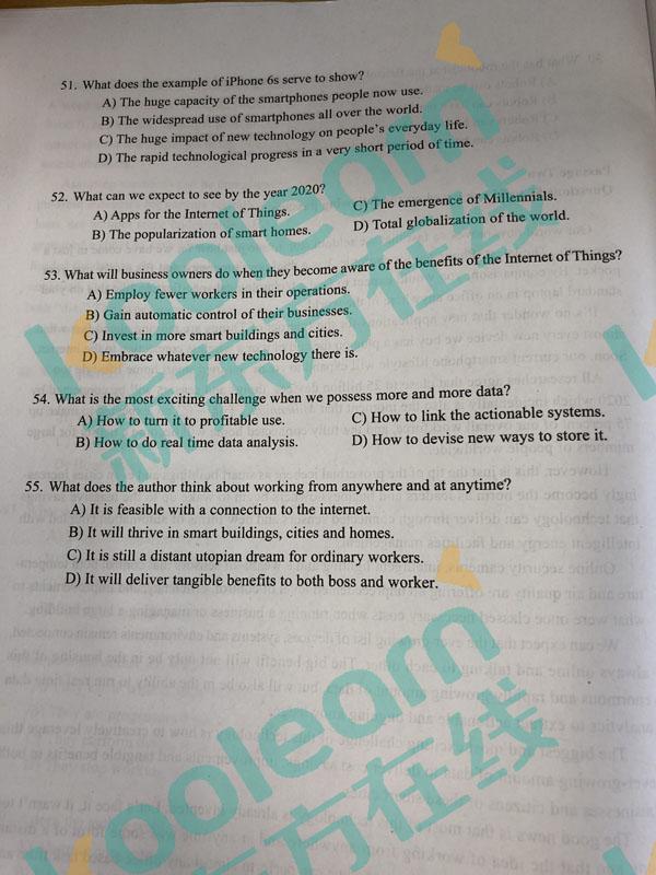 大学生六级成绩_2017年12月英语六级仔细阅读答案(第5页)_六级_新东方在线