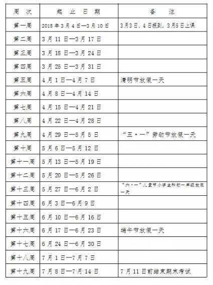 湖南长沙2018中小学寒假放假时间:2月3日~3月3日