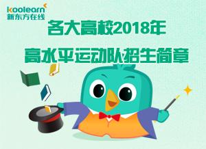 2018年高水平运动队招生简章
