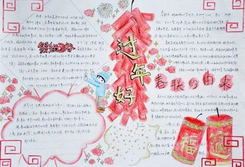 春节英语手抄报:欢庆春节