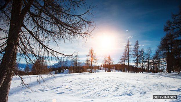 """小测验 - 和""""冬天""""相关的词汇"""