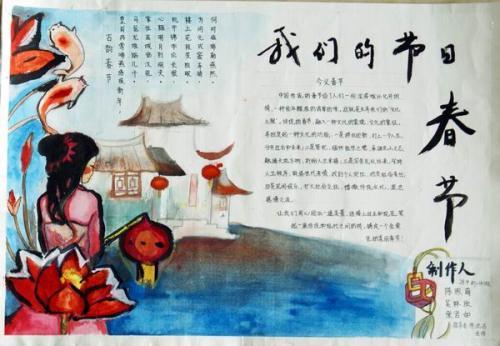 春节英语手抄报:传统节日