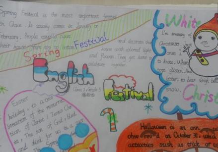 春节英语手抄报:欢度新年