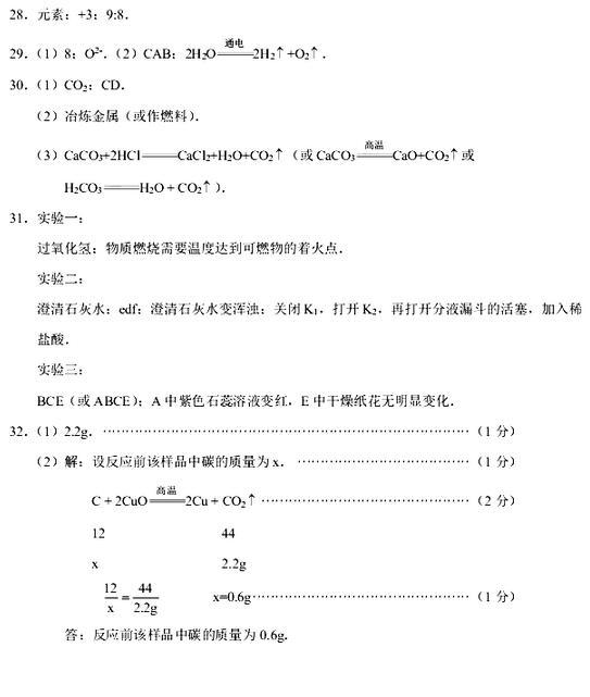 2018年武汉市初三元月调考物理试题及答案