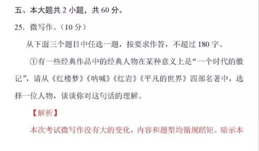 2018北京朝阳区高三二模语文微写作