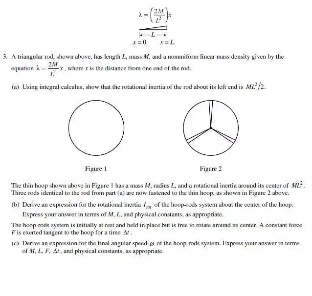 2018年AP物理考试题目回顾
