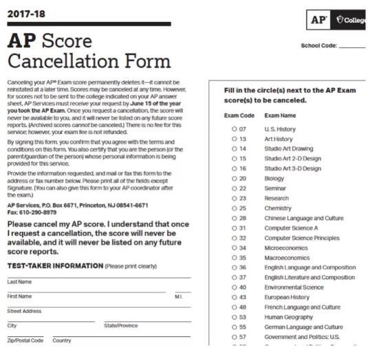 2018年AP成绩送分流程