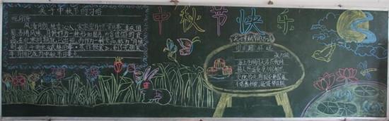 中秋节黑板报