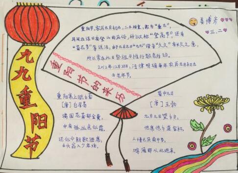 重阳节手抄报资料图片:重阳节的来历