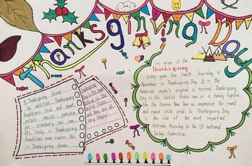 感恩节英语手抄报:感恩的方式图片