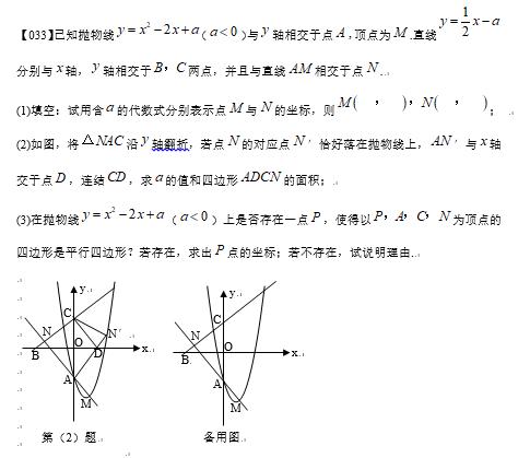 2019中考数学压轴题100题精选(33)