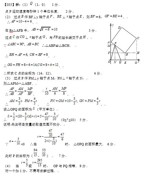 2019中考数学压轴题100题精选(35)