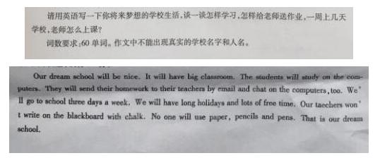 初一下册英语作文题目及范文(13)