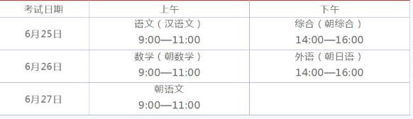 2019黑龙江伊春中考时间:6月25日至6月27日