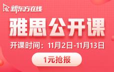 新东方雅思11月1期公开课