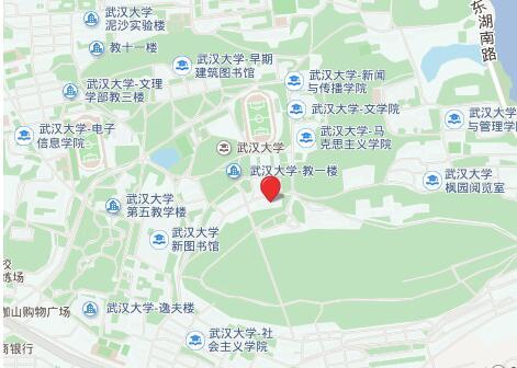 武汉大学考点地图
