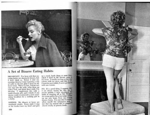 玛丽莲·梦露的健身与饮食