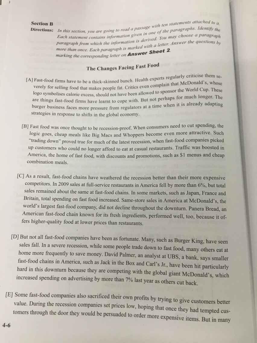 大学英语3作文范文_2015年6月大学英语四级真题试卷二(图片版)_四级_新东方在线