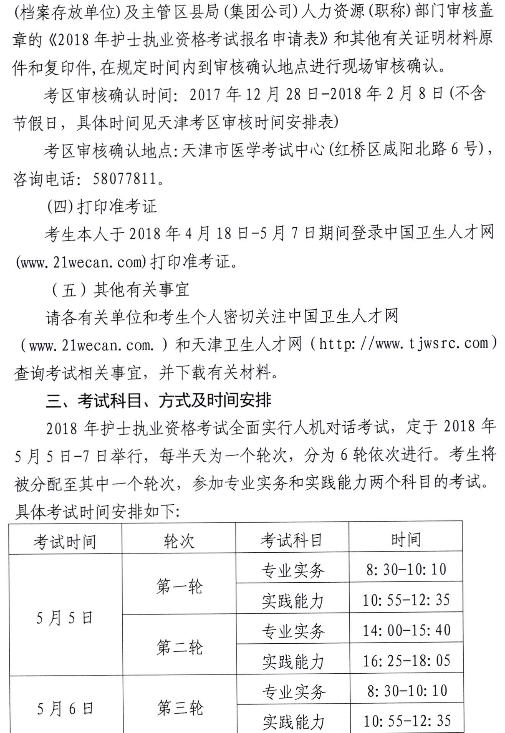天津卫生人才网考试_天津2018护士执业资格报名及现场资格审核通知_2018年护士资格 ...