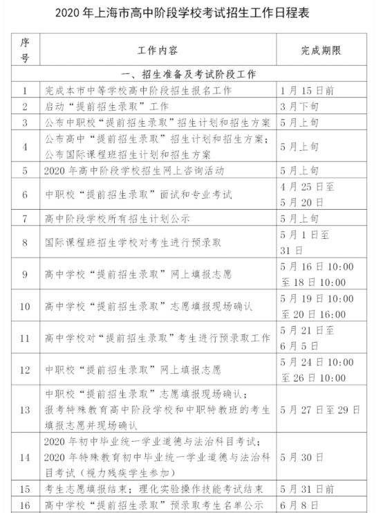 2020上海中小学暑假放假时间安排